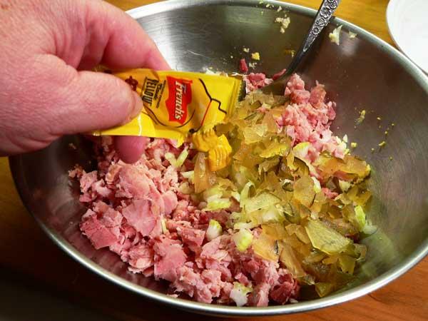 Ham Salad, add the mustard.