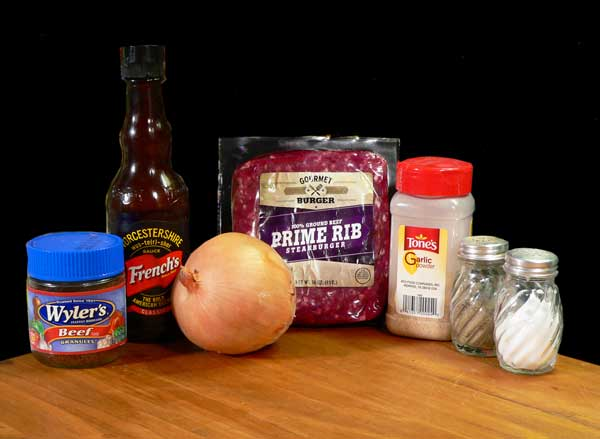 Hamburger Steak, you'll need these ingredients.