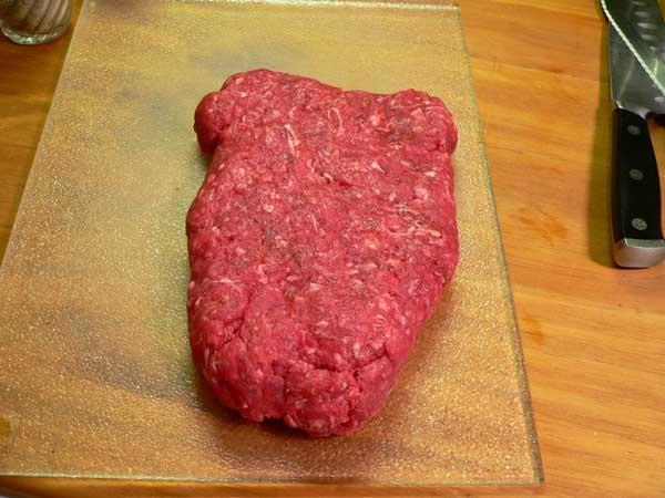 Hamburger Steak, shape as desired.