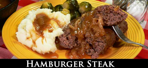 Hamburger Steak, slider.