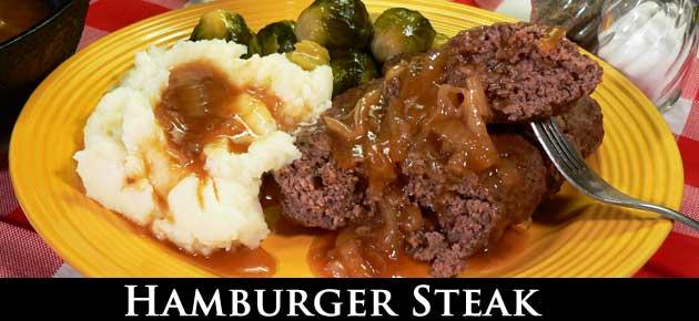 Hamburger Steak, slider.