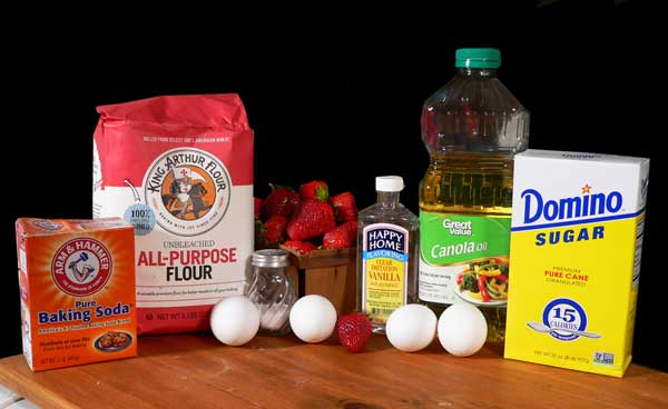 Strawberry Bread, you'll need these ingredients.
