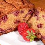 Strawberry Bread, with fresh strawberries, as seen on Taste of Southern.