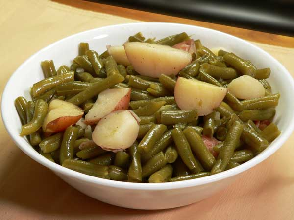 Green Beans and Potatoes, serve warm and enjoy.