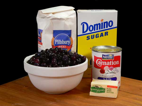 Blueberry Cobbler, you'll need these ingredients.