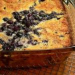 Southern Blueberry Cobbler, made from scratch, as seen on Taste of Southern.
