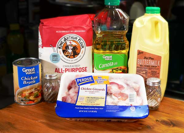 Chicken Gizzards with Gravy, you'll need these ingredients.