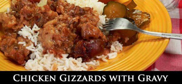 Chicken Gizzards with Gravy, slider.
