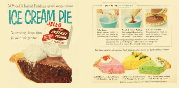 Ice Cream Pie, vintage ad from around 1957.