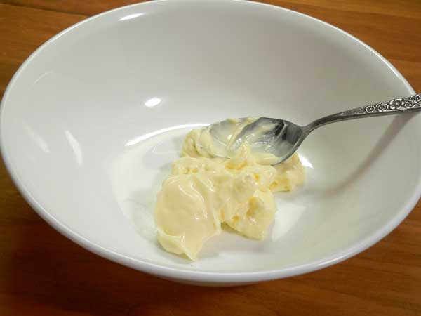 Kidney Bean Salad, add the mayo.
