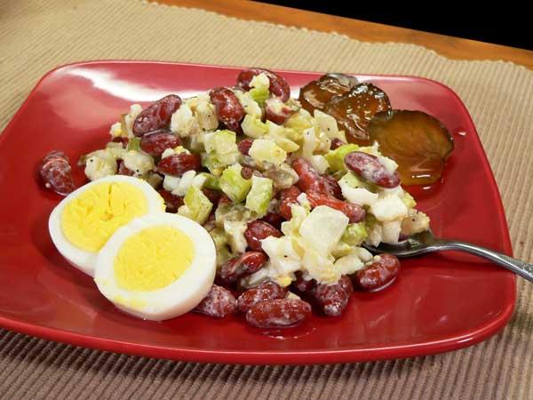 Kidney Bean Salad recipe, as seen on Taste of Southern.com.