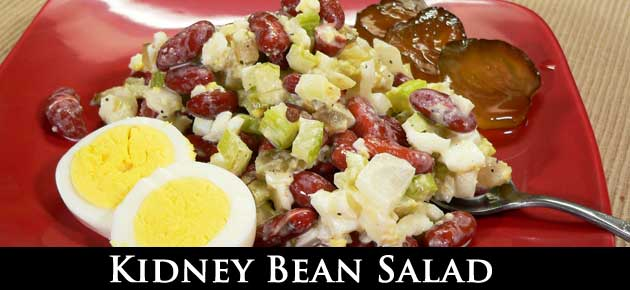 Kidney Bean Salad, slider.