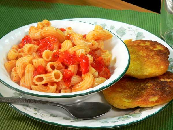 Macaroni and Tomatoes, enjoy.