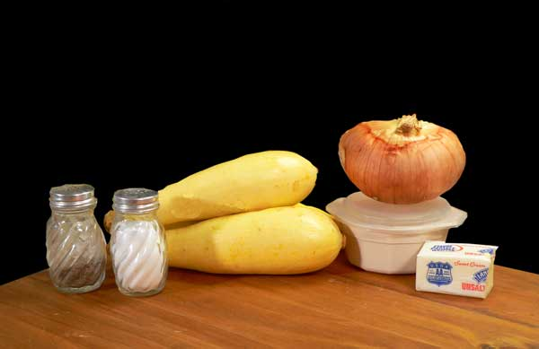 Squash and Onions, you'll need these ingredients. -Taste of Southern.com