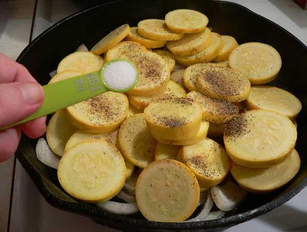 Squash and Onions, add the sugar.