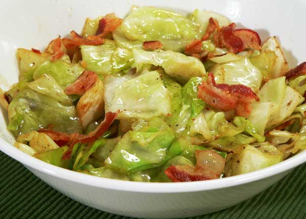 Fried Cabbage, serve warm and enjoy.