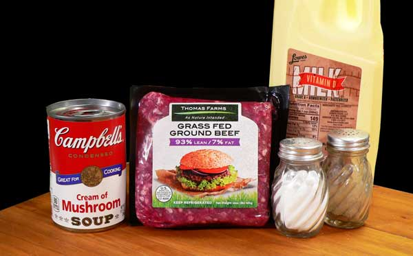 Ground Beef with Mushroom Gravy, you'll need these ingredients.