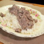 Ground Beef with Mushroom Gravy