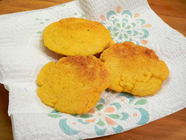 Hot Water Cornbread, remove to paper towels to drain.