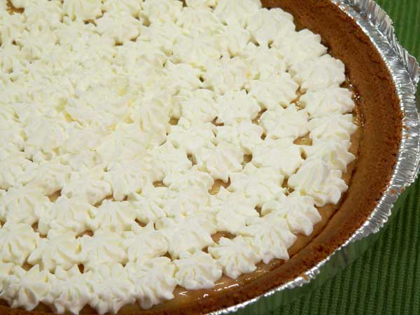 Lemon Cream Pie, decorate as desired with whipped cream.