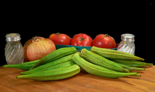 Okra and Tomatoes, you'll need these ingredients.
