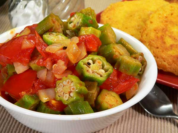 Okra and Tomatoes, enjoy.