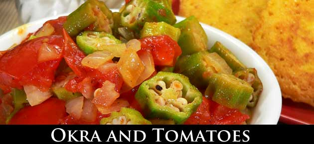 Okra and Tomatoes, slider.