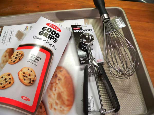 Salted Chocolate Chip Cookies, my OXO tools.