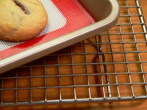 Salted Chocolate Chip Cookies, place on wire rack to cool.
