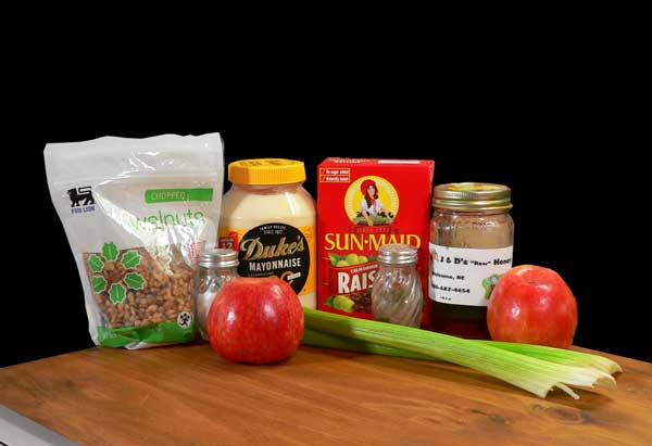 Waldorf Salad, you'll need these ingredients.