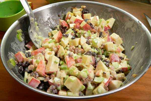 Waldorf Salad, fold everything together.