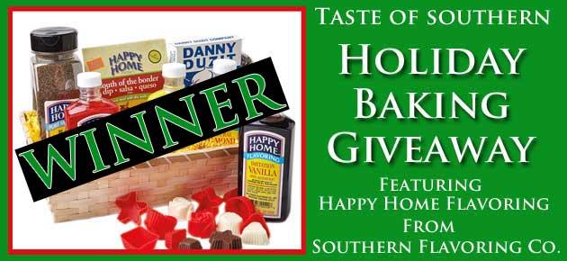 Holiday Baking Giveaway Winner, slider.