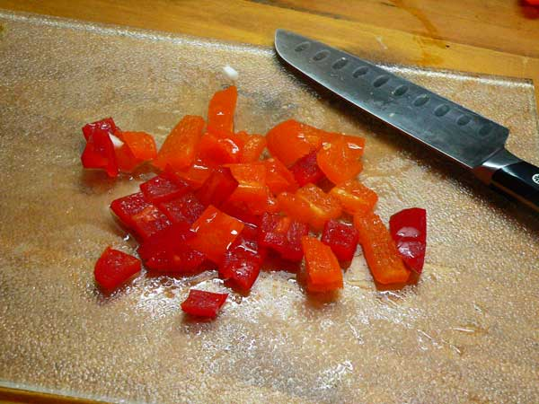 Corn Maque Choux, dice the bell peppers.