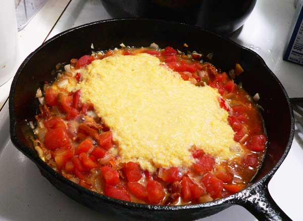 Corn Maque Choux, add the can of creamed corn.