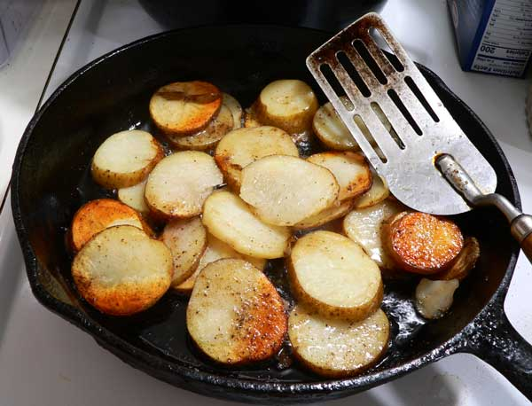 Southern Fried Potatoes, stir again.