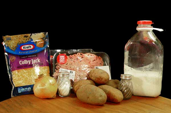 Hamburger Casserole, you'll need these ingredients.