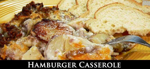 Hamburger Casserole, slider.