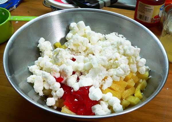 Heavenly Hash, add the mini marshmallows.
