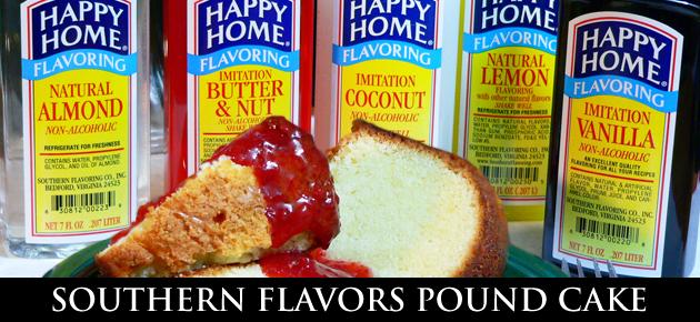 Southern Flavors Pound Cake recipe.