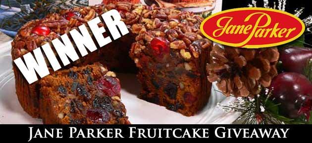 Jane Parker Fruitcake Giveaway