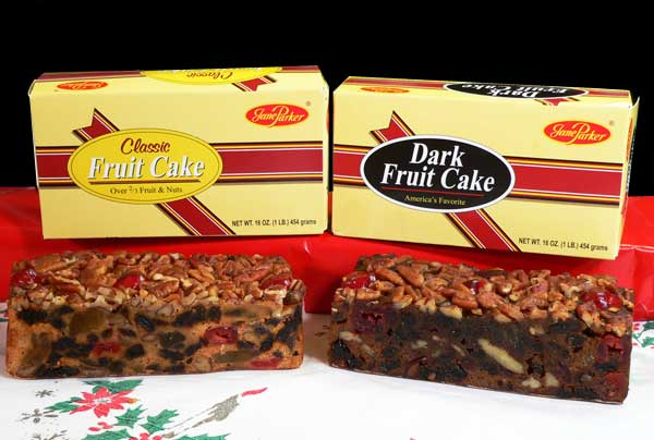 Jane Parker Fruitcake, one pound cakes.