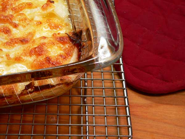 Onion Casserole, place on wire rack to cool.