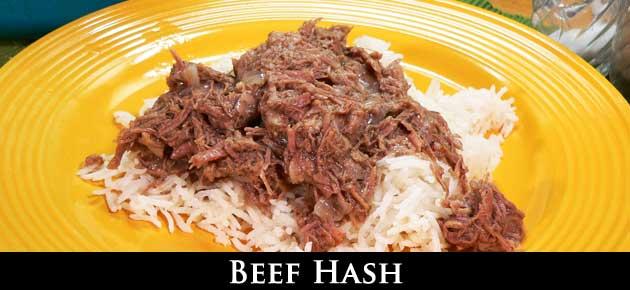 Beef Hash, slider.