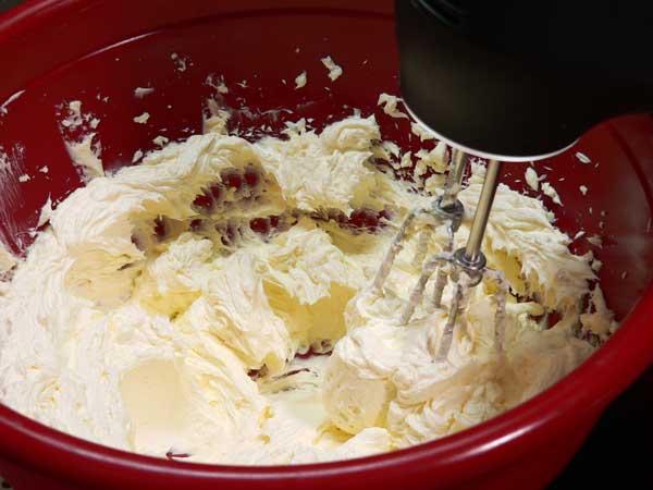Black Walnut Cake, cream together until smooth.