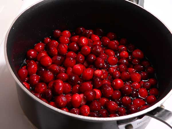 Cranberry Sauce, add the cranberries.