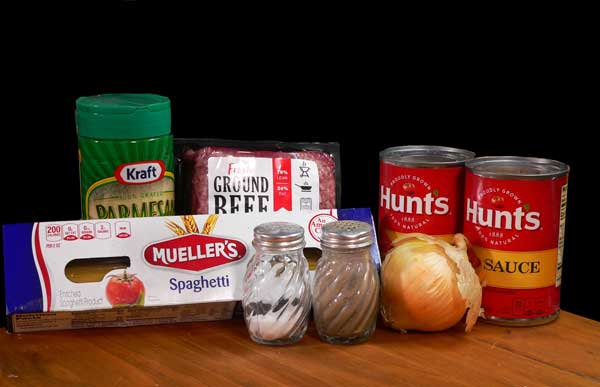 All at Once Spaghetti, you'll need these ingredients.