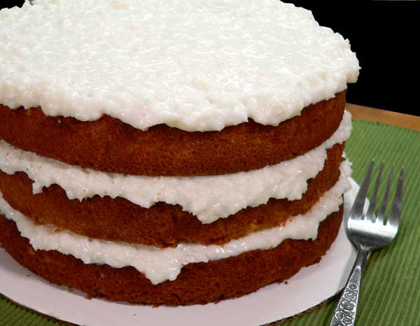 Sour Cream Coconut Cake, enjoy.