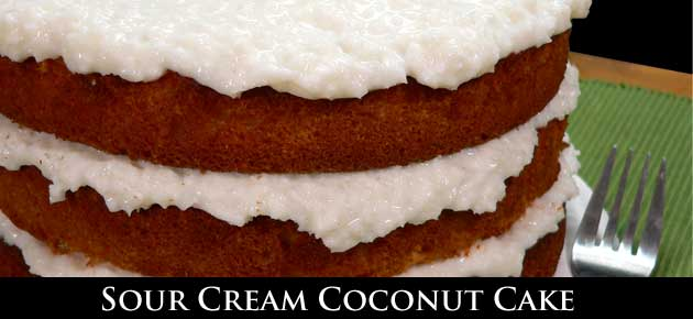 Sour Cream Coconut Cake, slider.