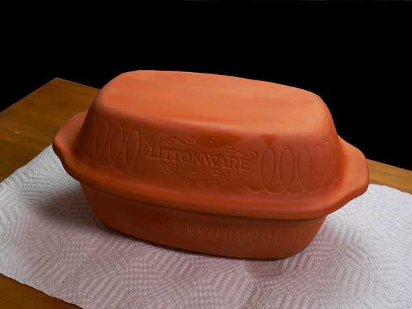 Clay Pot Chicken, cover the pot.