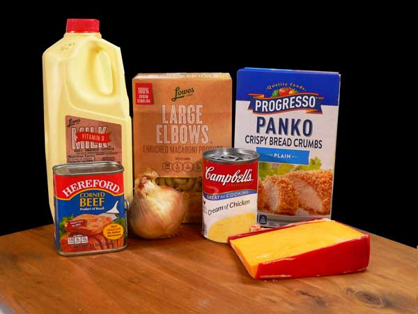 Corned Beef Casserole, you'll need these ingredients.